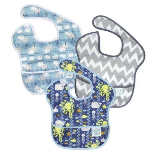 Bumkins Super Baby Bib Catch All Nettoyage Lavable en Machine 6-24 mois 3 Pack