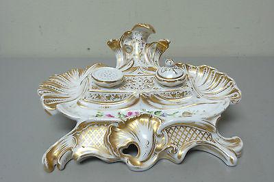 Antik 19. C. Alt Paris Französischer Porzellan Doppeltes Auf Der Ganzen Welt Verteilt Werden