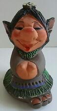 Jetmund Norwegian Pottery Figurine Female ELF Big Foot Forest TROLL Gnome 1960s