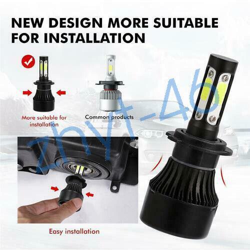 4Pcs For Ram ProMaster 1500 2500 3500 Combo LED Headlight Bulb Kit High+Low Beam