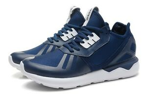 online store f226f f6f25 Image is loading Mens-Adidas-Tubular-Runner-Navy-Blue-White-B41273-