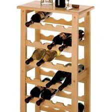 Wine Rack Bottle Holder Wood Kitchen Dining & Bar Storage Home Display Decor