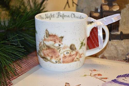 "Wrendale Royal Worcester Tasse /""Night before Christmas/"""
