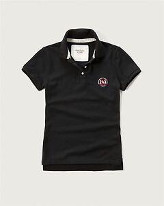 82673338 NEW Abercrombie & Fitch Logo Classic Polo Shirt M Medium Dark Navy ...