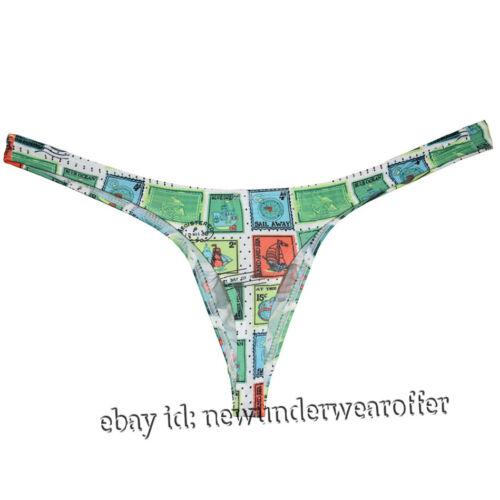 Men/'s Classics Bulge Pouch Bikinis Thong Underwear Guy Comfy Undergarment Tangas