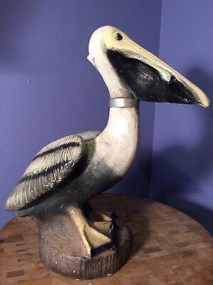 VTG Pelican BIRD Concrete CEMENT Yard ART Statue ...