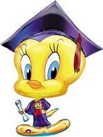 Graduation 31 Balloon Tweety Bird 1 Grad Congrats Diploma Cap & Free Ribbon
