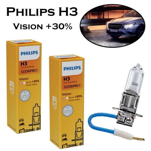 30/% mehr Licht Halogen Ersatz Lampe ECE 2x Philips H3 Vision 55W 12V 12336PRC1
