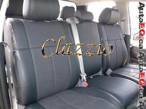 Ford F250 F350 Crew Cab 2006 2010 Clazzio Leather Seat Cover 1 2 Row Seat Ebay