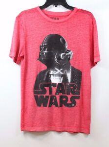 HYBRID-Men-039-s-Star-Wars-Graphic-Print-Darth-Vader-Burnout-T-shirt-Red