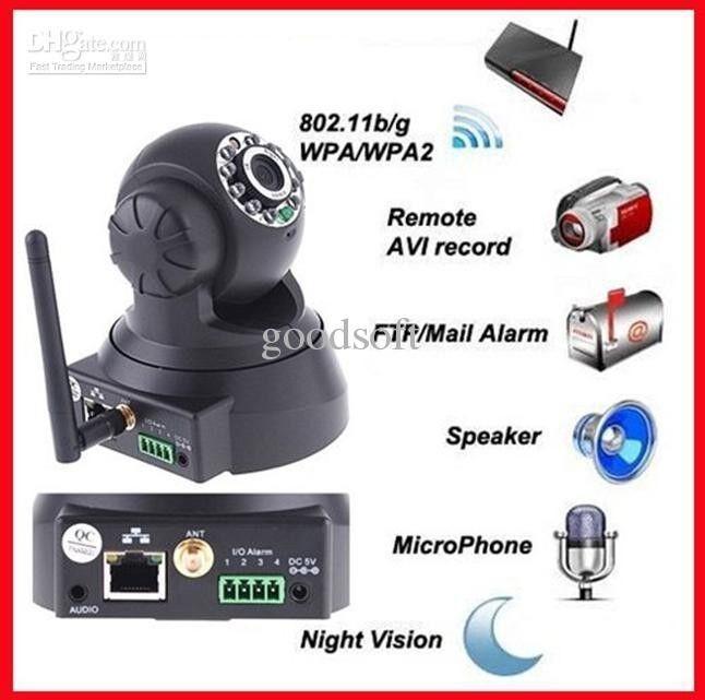 Wireless WIFI HD Mini Megapixel P2P Day Night Indoor