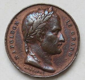 Frankreich-Bronzemedaille-auf-Napoleon-und-den-1806-geplantenTriumpfbogen