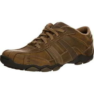 skechers diameter vassell mens brown lace up casual shoes