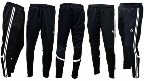 UK Mens Elastic Waist Gym Casual Sports Jogging Training Pants Slim Trousers