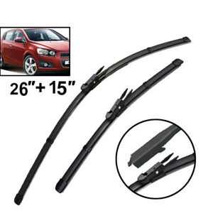 Front Windshield Wiper Blades Set For Chevrolet Aveo Sonic 2015