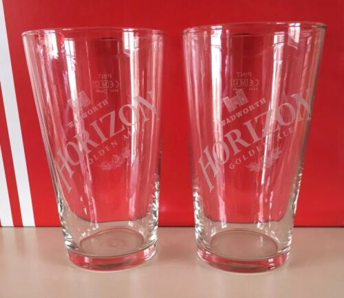 4 X New Wadworth Horizon Golden Ale Pint Glasses