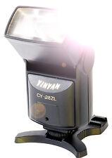 Aufsteck Blitzgerät CY-28ZL neigbarer Zoom Reflektor Leitzahl 28 Mittenkontakt