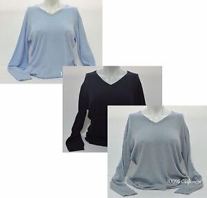 Ladies-100-Cashmere-Jumper-Sweater-100-Pashmina-Girl-039-s-Womens-Jumper-V-Neck