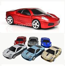 Red Ferrari car USB 2.4G Wireless Mouse Mice Optical for Laptop Mac PC 1600DPI