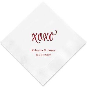 Wedding Cocktail Napkins.Details About 300 Xoxo Personalized Wedding Cocktail Napkins