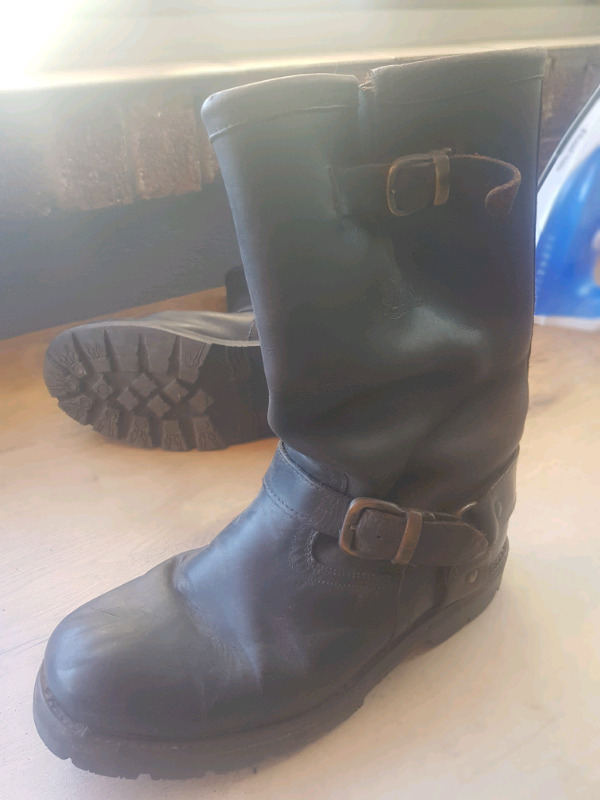 Leather Biker style boots