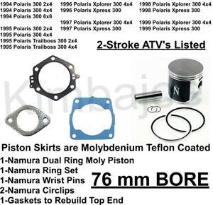 1.00mm Oversize to 75.47mm~1999 Polaris Xplorer 300 4x4 Piston Kit