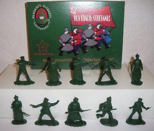 Guerre-civile-russe-Bolcheviks-et-Armee-Rouge-1-32-petits-soldats-Serie-2
