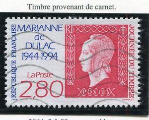 TIMBRE-FRANCE-OBLITERE-N-2864-MARIANNE-DE-DULAC-CARNET