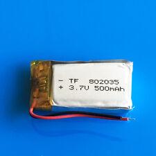 500mAh LiPo 3.7V Battery 802035 for GPS MP3 Selfie Stick Headset Speaker PSP MP4