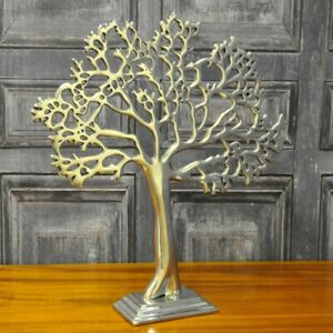 Silver-Metal-Decorative-Table-Tree-38cm