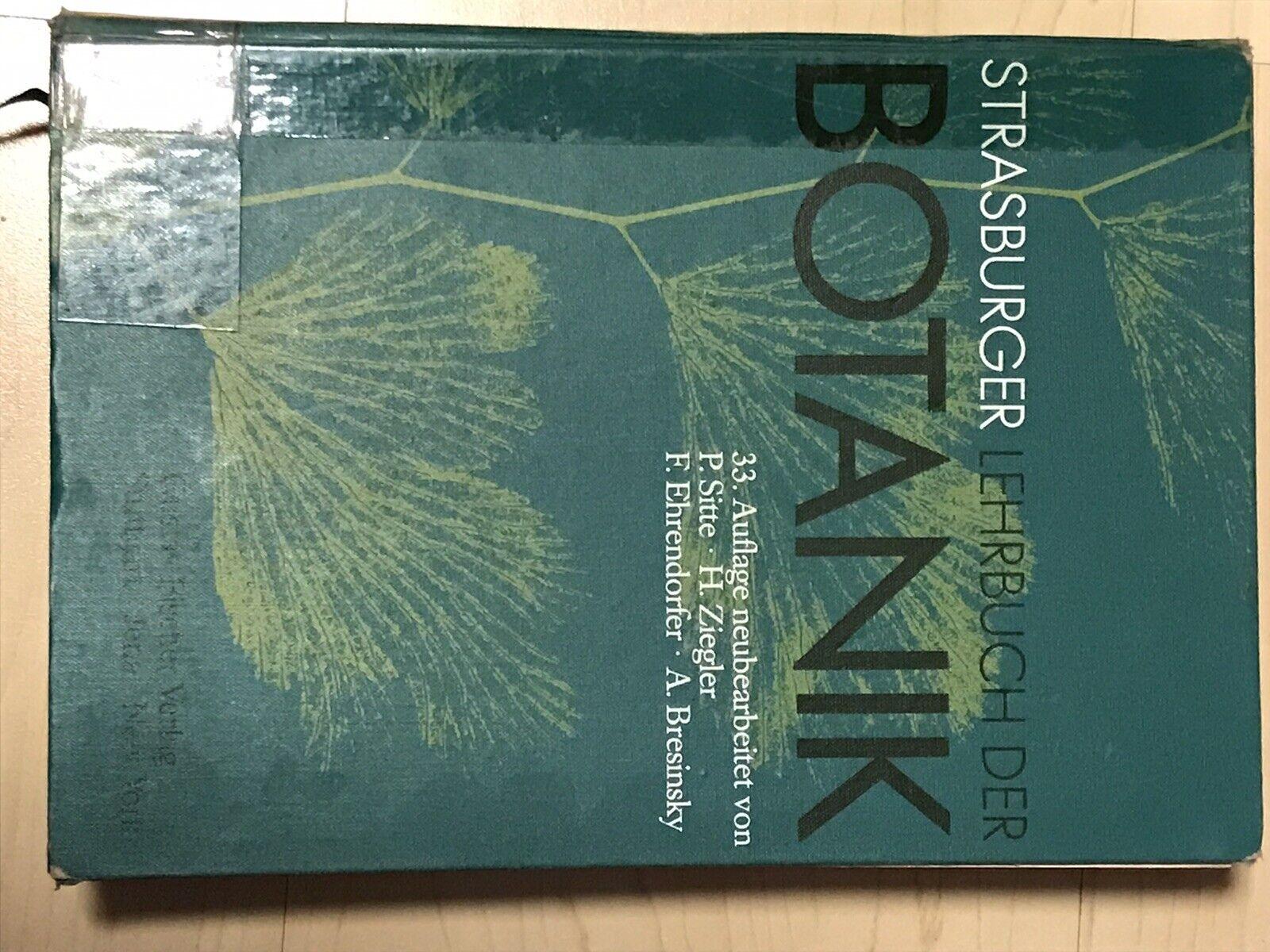 Strasburger Lehrbuch der Botanik 33. Auflage - Sitte / Ziegler / Ehrendorfer / Bresinsky
