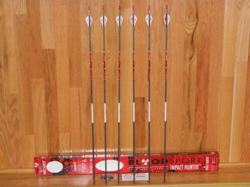 NEW BloodSport Impact Hunter Carbon 350 Spine Arrows-10.2 GPI-Cut /& Insert Av