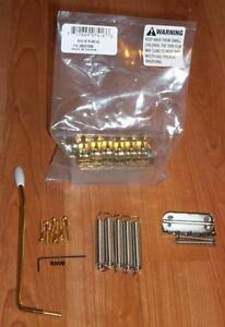 Fender® Mexican Stratocaster Gold Bridge Assembly~2 7/32nd`s~Big Block~Brand New