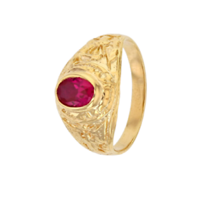 Bague-Chevaliere-Americaine-Army-Rubis-EN-OR-jaune-9-CARATS-375-1000-T60-a-68