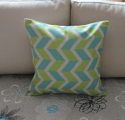 Zig Zag Geometries Cotton Linen Cushion Cover Throw Pillow For Home Decor S2267