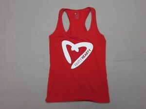 ZUMBA-WEAR-WOMENS-RED-034-PARTY-HEARTY-034-COTTON-BLEND-TANK-TOP-SIZE-MEDIUM-RARE