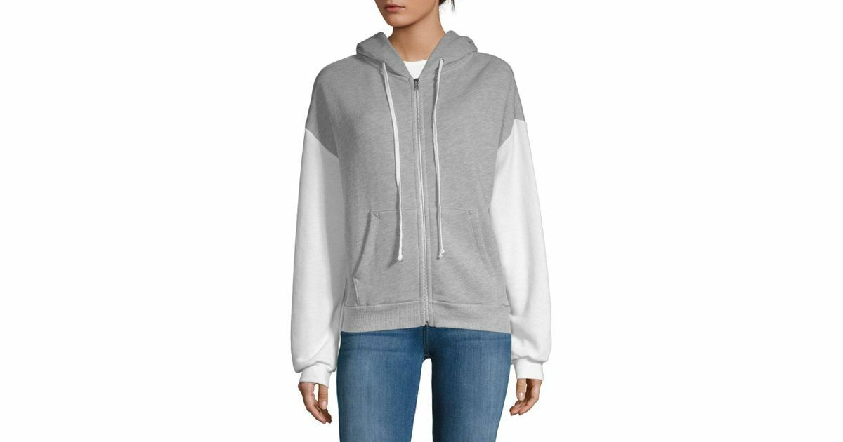 Wildfox Couture Marquis Zip Hoodie, Heather grau, s. s