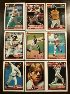 1991-Topps-CLEVELAND-INDIANS-Complete-Team-Set-30-ALOMAR-All-Star-Rookie-SHARP