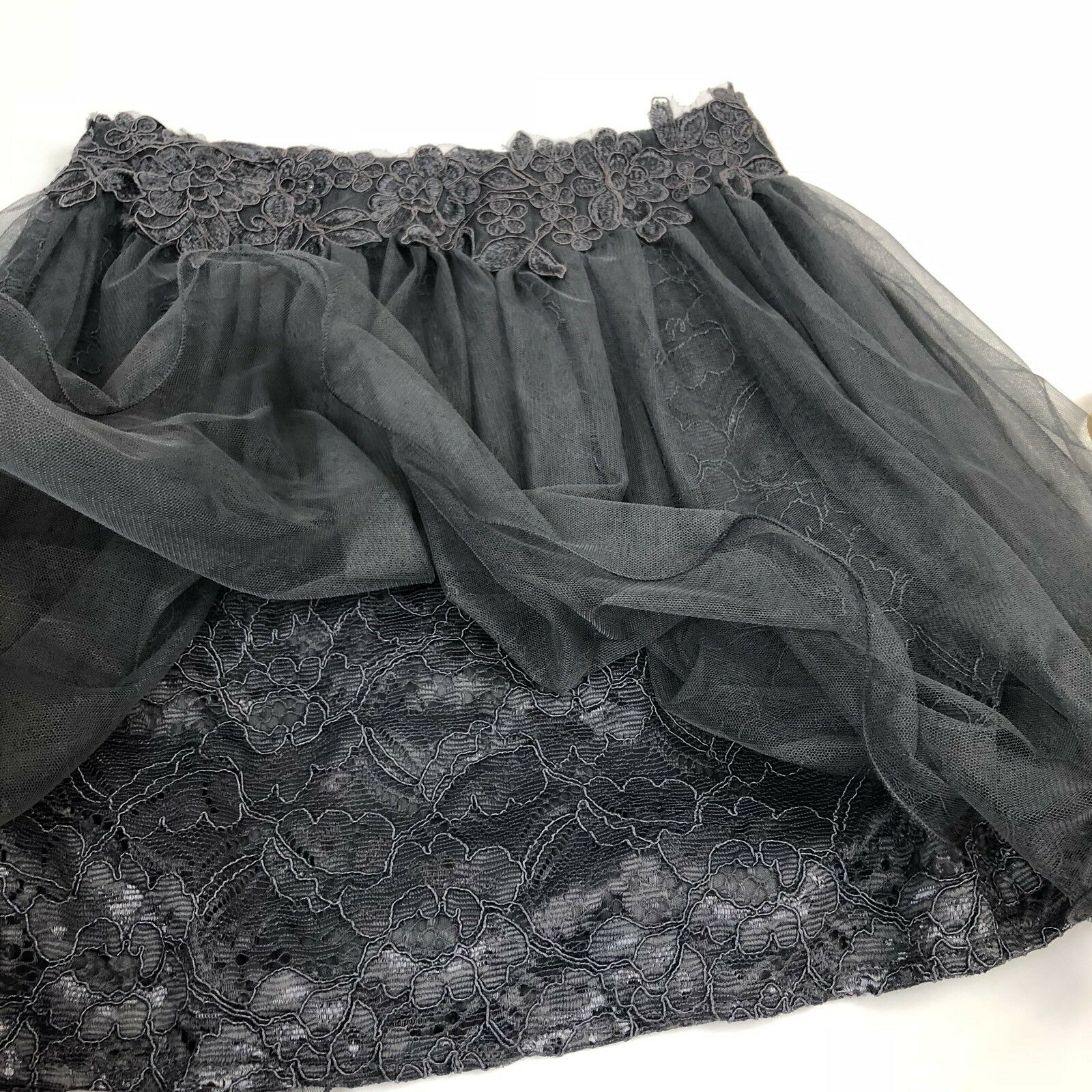 GB Social Embroidered Skirt 9 Two Two Two Piece 13 Juniors New Years Party Holiday Grey 7afb0b