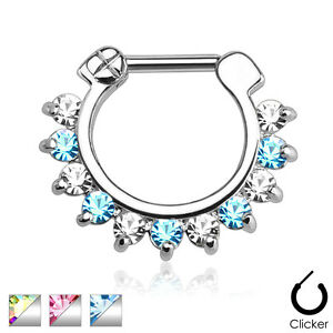 Single-Line-Pronged-CZ-Gems-Surgical-Steel-Bar-Nose-Septum-Ring-Clicker-16g