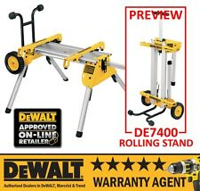 Dewalt De7400 Dw745 Rolling Stand Workstation For Table Saw N