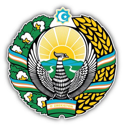 3/'/' or 5/'/' Uzbekistan Coat Of Arms Car Bumper Sticker Decal
