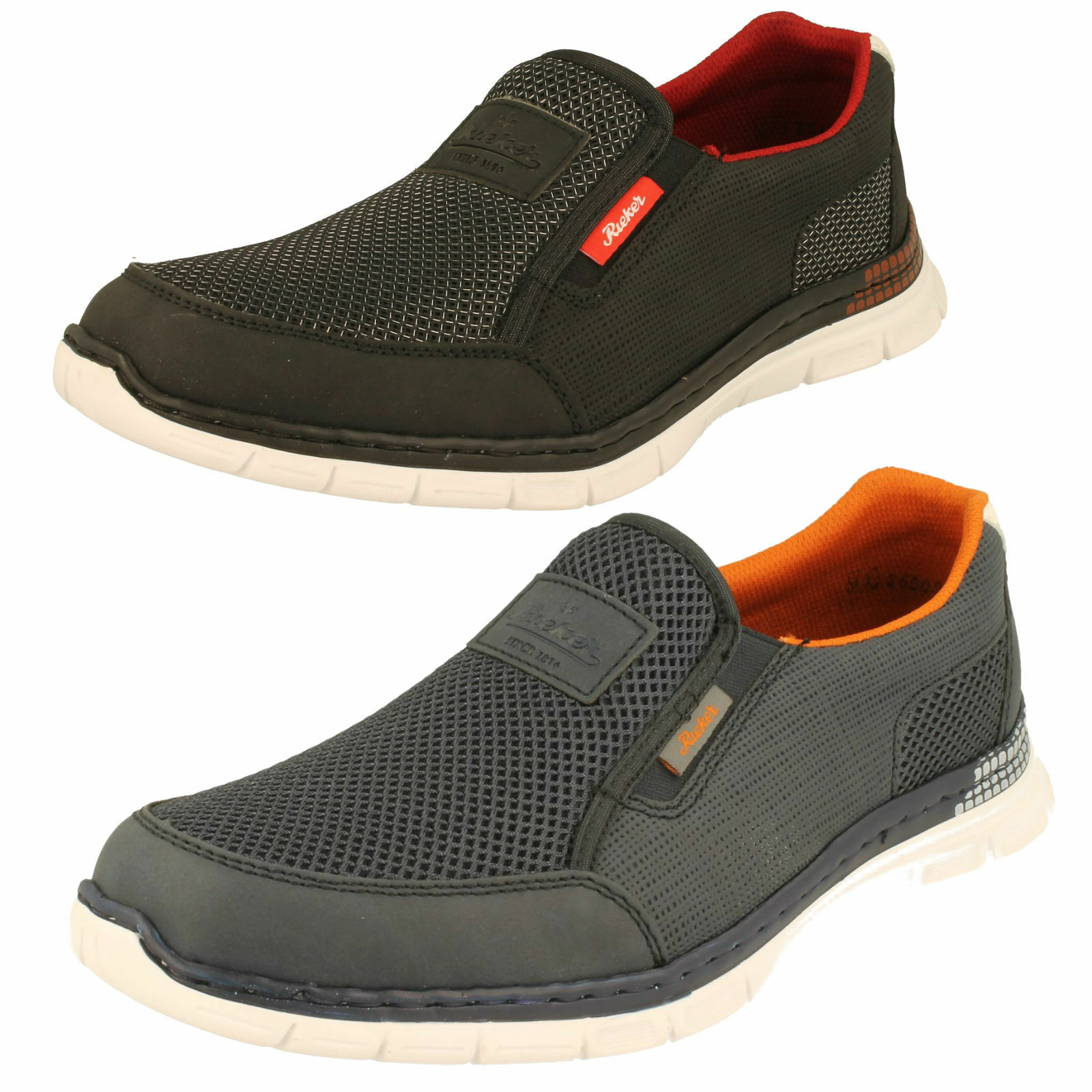 Uomo Rieker casual scarpa slip on - B4870