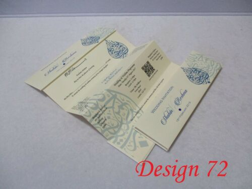 Folding Wedding Invitations Cards Muslim Asian Sample