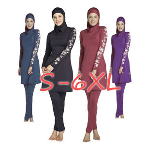 Muslim-Lady-Modesty-Swimwear-Swimsuit-Full-Cover-Islamic-Beachwear-Arab-Burkini