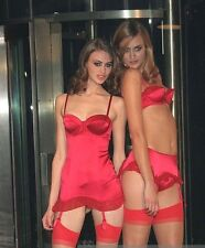 AGENT PROVOCATEUR RED SATIN JILLY SLIP BRAND NEW SIZE 34C