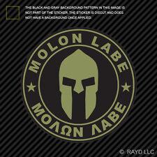 OD Green Molon Labe Sticker Decal Vinyl Come Take Them 2nd Ammendment v1c