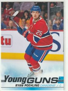 19-20-Upper-Deck-Series-1-RYAN-POEHLING-226-Rc-Young-Guns-Rookie-Canadiens