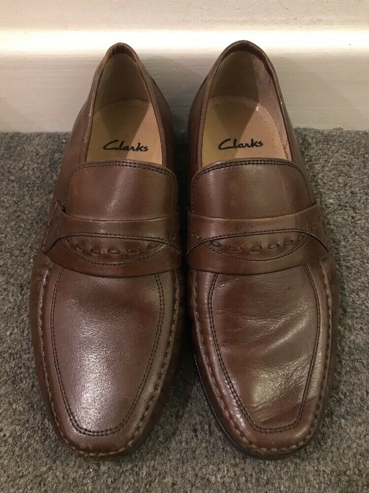 Clarks Extra Wide Mens Brown Shoes UK 7