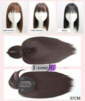 Synthetic Hair Topper Piece Women Hairpiece Toupee Topper Closure Us Shipping
